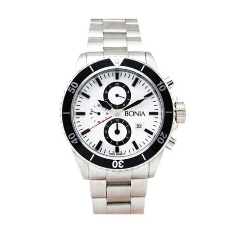 Jam Tangan Tikar Bonia Silver jual bonia b827 1312c silver jam tangan pria