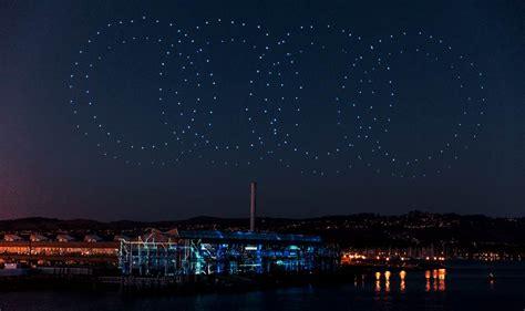 audi flies  intel drones  dazzling show  electric