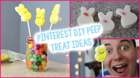 diy peep inspired treats a little craft in your day