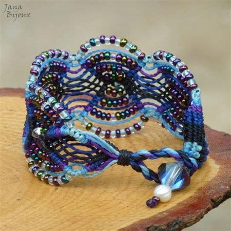 macrame pulseira pulseira chique bijoux
