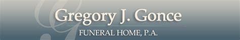 gregory j gonce funeral home p a pasadena md funeral home