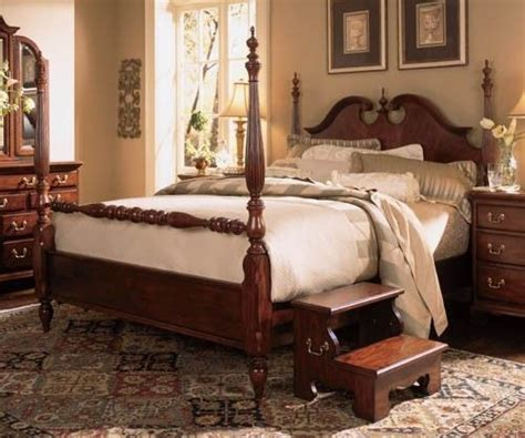 american drew cherry grove wood low poster bed 3 piece american drew cherry grove 45th anniversary low poster