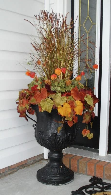 Urn Decorations by Urn Flowers Fall Decorating Urn Flower
