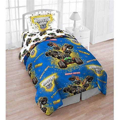 monster jam comforter monster jam boy s sheet set monster trucks images frompo