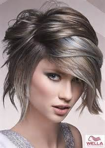 shag haircut brown hair with lavender grey streaks best 25 silver highlights ideas on pinterest