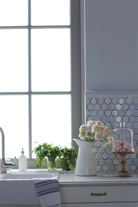 hexagon tile kitchen backsplash white marble hexagon kitchen backsplash transitional