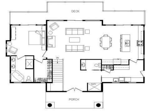 ranch style homes floor plans open for small with deck
