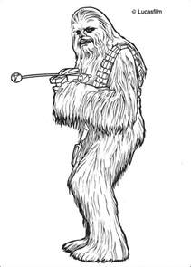 coloriages coloriage star wars de chewbacca fr hellokids com
