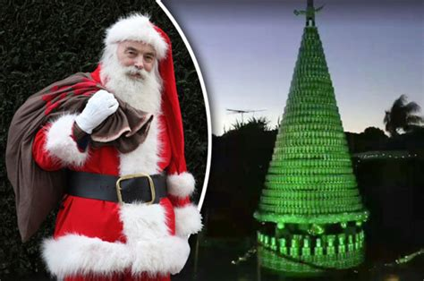 beer christmas tree stuns locals in perth australia