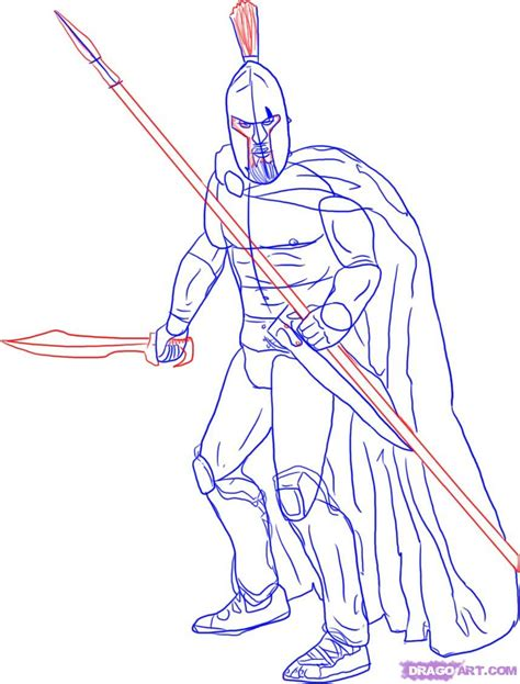 doodle how to make warrior how to draw a warrior step by step figures free