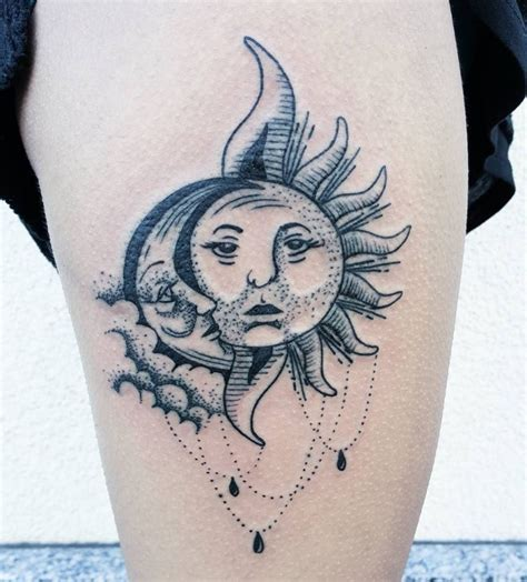 moon and sun tattoo 50 meaningful and beautiful sun and moon tattoos kickass