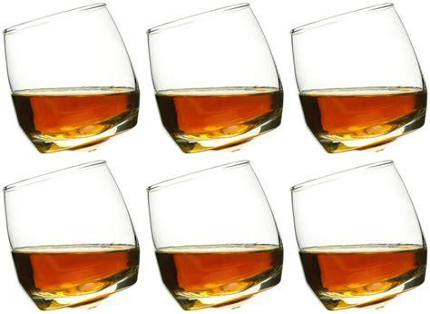 Sagaform Rocking Whiskey Glasses   Brandy and shot glasses