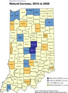 population projection maps stats indiana