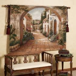 tuscan kitchen decor wall: quaint town tapestry k jpg quaint town tapestry