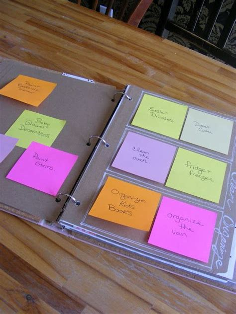home organization binder 61 best images about post it notes on pinterest