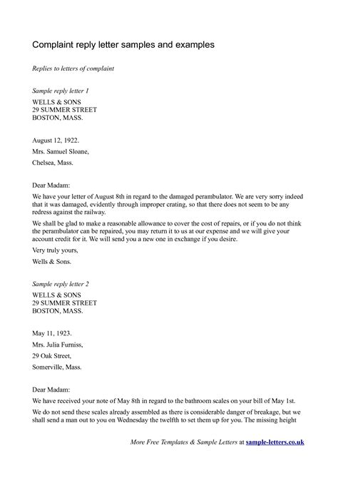 Response Letter Sle To A Complaint Best Photos Of Exle Of A Response Letter Response Letter Sle Business Reply Letter