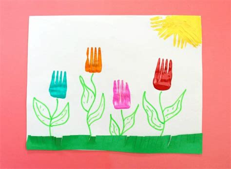 painting crafts for painting crafts for fork tulips