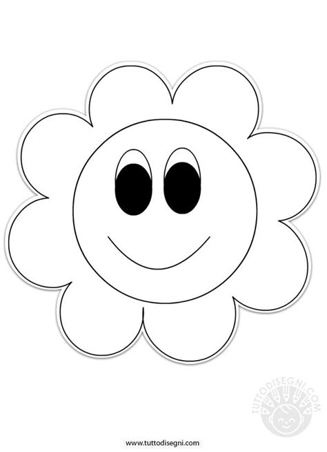 fiore disegni fiore da stare e colorare tuttodisegni