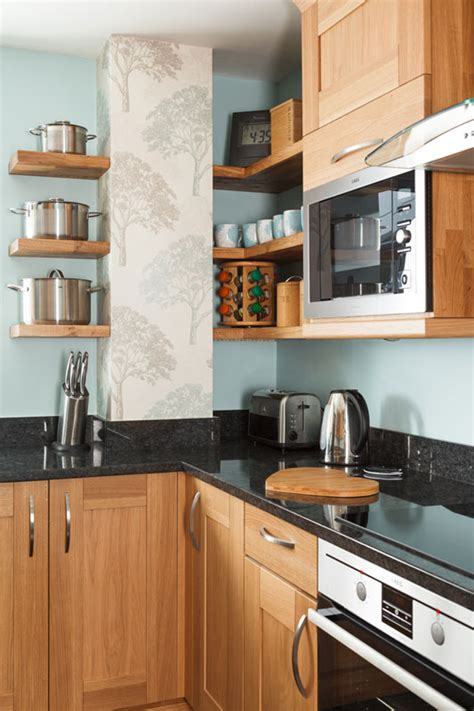 open shelving    kitchen solid wood