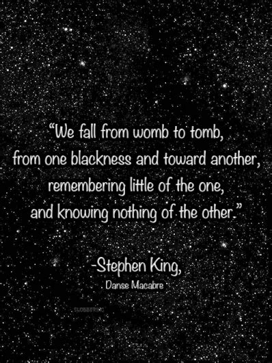 womb to tomb - stephen king Memorial tat idea for my