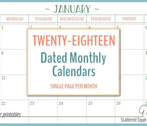 printable calendar scattered squirrel free printables archives scattered squirrel