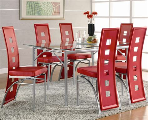 red dining table set agreeable glass top dining table bases contempory red