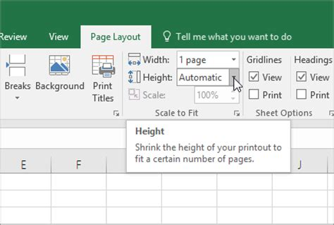 page layout scale excel scale a worksheet excel