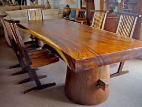 tree trunk style table top interior design for easy