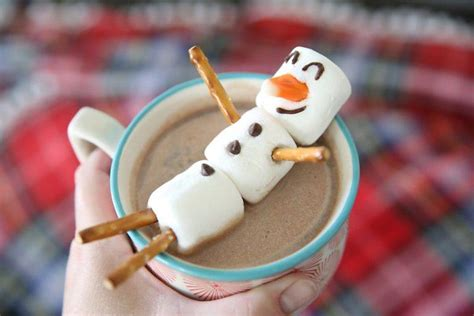 easy crafts for marshmallow snowmen 50 adorable food ideas for you and your loved ones