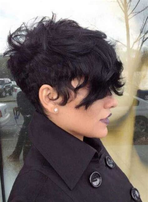 pixie cut thick wavy hair undercut hairstyle for curly hair