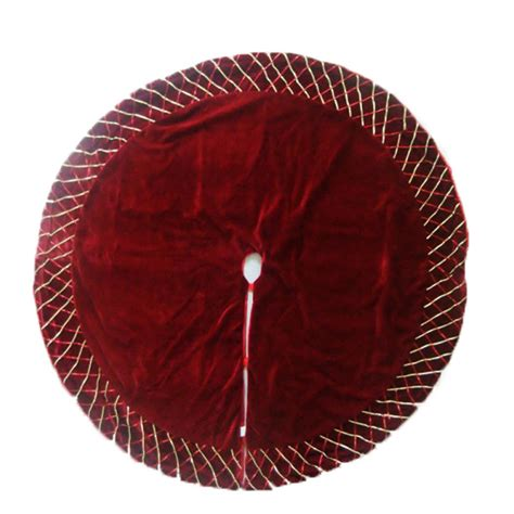 shop holiday living 56 in burgundy polyester christmas