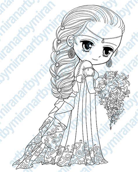 princess digital sts big eye doll coloring page by