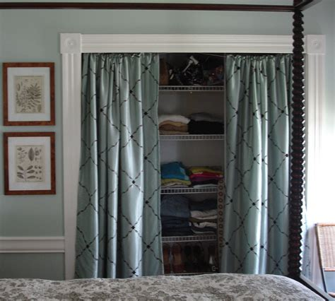 hanging door curtain cottage bedroom closets ditched the closet doors and