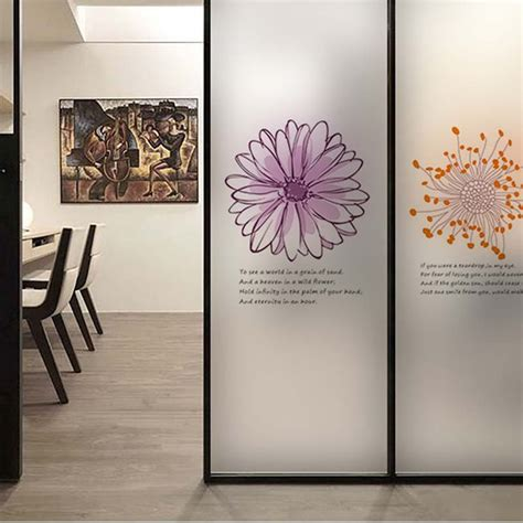 sticker for glass wall flower wall sticker coffee shop transparent glass window stickers decoration office vinyl