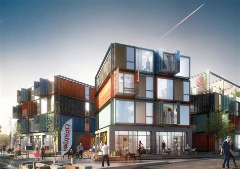 Shipping Container Apartments Arkitema Architects Designs 30 Shipping Container Apartments In Roskilde Denmark Archdaily