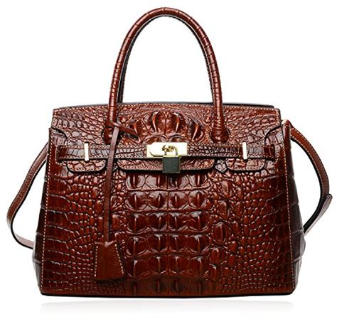 Coach Carryall Crocodile Ghw Fashion Week With Pouch C 108 Pijushi S Padlock Handbags Genuine Leather Tote