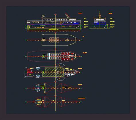 tekne balıkçılığı tekneleri gemi kategorisi autocad projeleri 72845