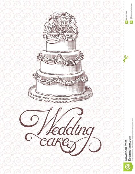 Wedding Cake Vector by Wedding Vintage Cake Vector Stock Vector Image 66907299