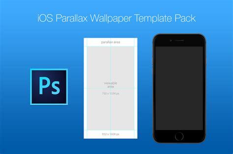 iphone wallpaper template free ios parallax wallpaper template pack on behance