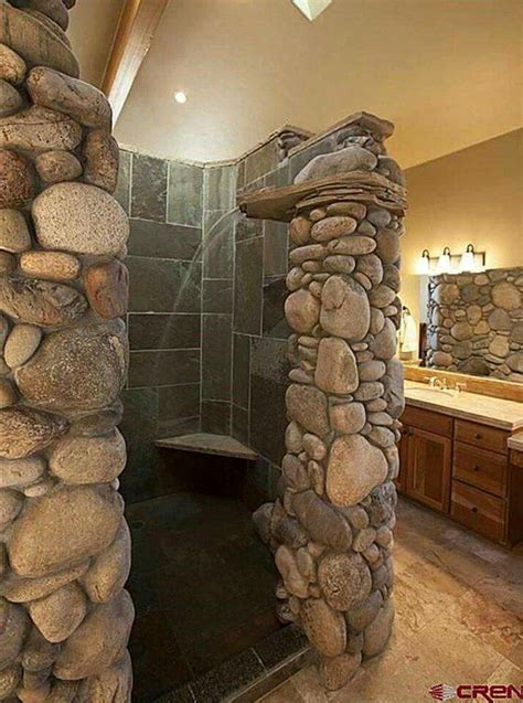 river rock bathroom ideas 25 best ideas about river rock shower on pinterest