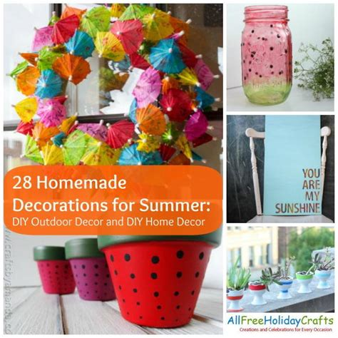 diy summer decorations for home 28 homemade decorations for summer diy outdoor decor and