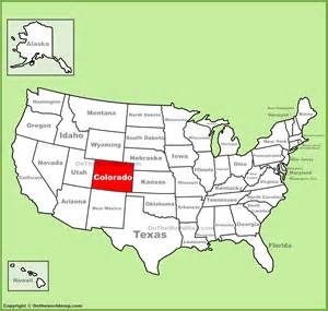 united states map showing colorado colorado location on the u s map