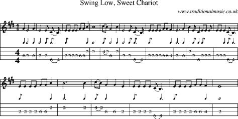 swing low sweet chariot sheet music mandolin tab and sheet music for song swing low sweet chariot