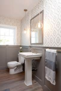 30 gorgeous wallpapered bathrooms 25 best ideas about small powder rooms on pinterest