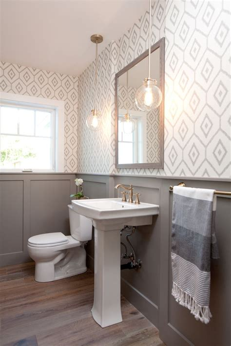 bathroom with wainscoting ideas 30 gorgeous wallpapered bathrooms