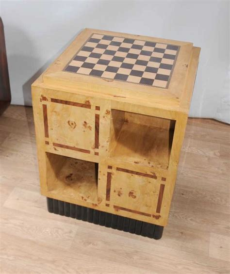Art Deco Games Table Side Coffee Table Chess Board Furniture Coffee Table Chess Board