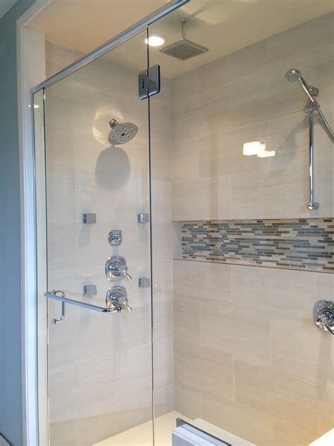 bathroom shower niche ideas chrome corner shower with built in shower niche for