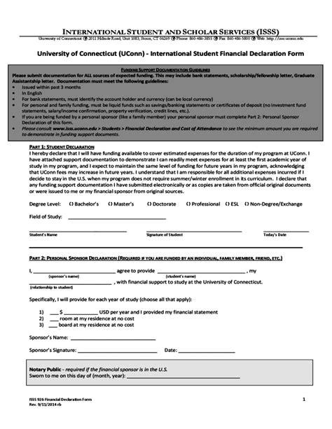 financial declaration form student finance declaration form of