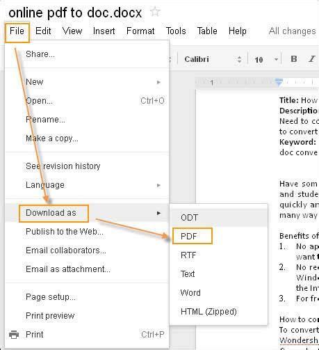 create form google docs tutorial how to create pdf with google docs