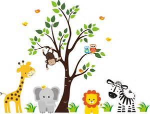 Wall Stickers For Nursery Rooms jungle animals cliparts co
